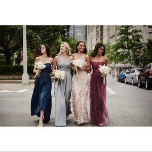 75530aefe9d8 David's Bridal Dresses - Strapless Mikado & Tulle Bridesmaid Dress ...